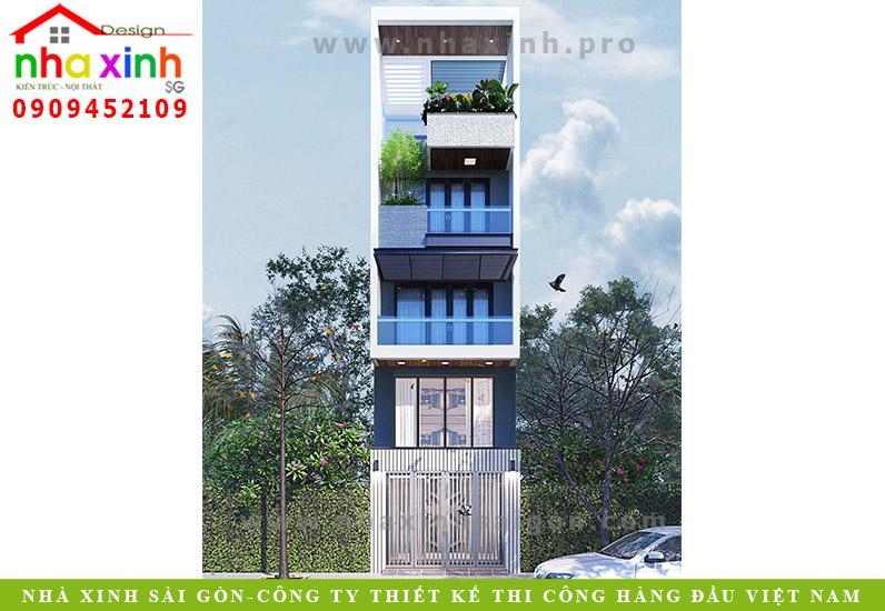 Mẫu Nhà Phố Đẹp 4 Tầng | Gia Chủ Ông Hà | NP-57