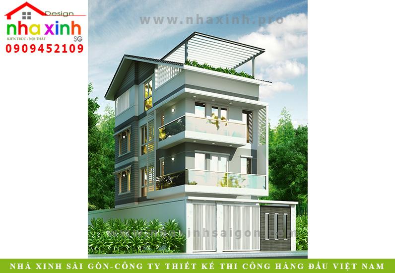 Mẫu Nhà Phố 3 Tầng | Gia Chủ Anh Sơn | NP-14